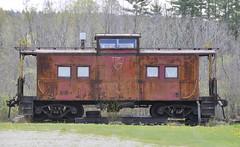 Sunderland, Vermont (Bob McGilvray Jr.) Tags: railroad red train private vermont steel tracks caboose cupola dh lehighvalley vt lv sunderland delawarehudson