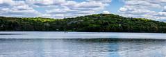 Lake Panorama II (david_sharo) Tags: trees panorama lake water clouds moraine davidsharo
