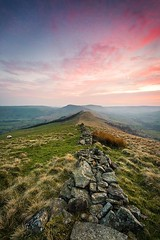 As much as now I don't shoot ultra-wide lenses this is one of very few I really felt it worked and added to the drama of the shot. This was atop Lose Hill a year or so ago and with amazing colours in the sky for quite some time. I find Lose Hill a difficu (Russell J-D) Tags: uk england landscape photography landscapes angle district derbyshire wide peak