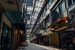 Senigai_01 (Sakak_Flickr) Tags: graffiti gifu nokton shoppingarcade shotengai tonyagai nokton35f14 senitonyagai