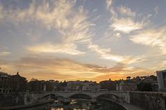 DSC_6545 (upterstreet2luce1) Tags: 2015 fiume lungotevere orablu oradorata roma street sanpietro streetphotography tevere tramonto