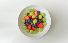 FrUiT ShOoT! (NVOXVII) Tags: lighting stilllife food white art fruit strawberry nikon colours arty vibrant perspective indoor bowl fresh minimal fromabove grapes minimalistic blueberries simplistic