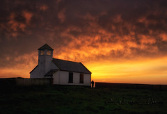 Seaton Sluice Sunset (scarlet_poppy) Tags: sunset watchtower seatonsluice