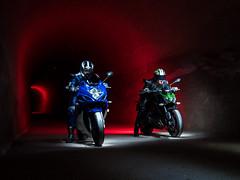 LightMotos_1 (Suso Sinmiedo) Tags: blue lightpainting verde green azul alicante motorbike moto tunel agost pilito vaverdedelmaigm