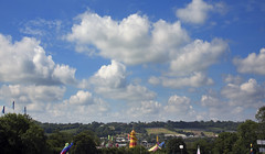 Glastonbury View (wentloog) Tags: uk camp england sky cloud field festival canon britain farm steve glastonbury somerset 5d glastonburyfestival worthy pilton helter skelter garrington