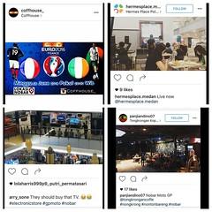 Lokasi Nobar: Jangan lupa, jika lo deket ma bandara #Cengkareng, mampir aja ke @coffhouse_ ada nobar #Euro2016 antara #Perancis dan #Irlandia. Foto lain via @hermesplace.medan @arry.sone @panjiandino07. Foto yang di mall itu lucu, mereka nobar #motogp di (lokasinobar) Tags: barcelona madrid city milan roma liverpool indonesia manchester real bayern la football chelsea soccer united bola arsenal serie juventus tottenham inter bareng psg liga epl suporter persija lokasi nonton persib a sepakbola nobar arema kuliner nonbar