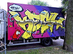 Painted Car : KESH (Akbar Sim) Tags: denhaag thehague agga holland nederland netherlands graffiti akbarsim akbarsimonse kesh truck van