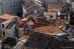 Vakantie Kroati & Sloveni 2015 (redijkstra) Tags: vakantie toren marleen uitzicht trap trogir klok daken kroati