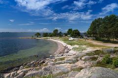 Sandhamn beach (martindjupenstrom) Tags: blue summer beach water sweden stockholm bluesky sandhamn archipelago stockholmarchipelago summerinsweden
