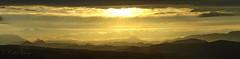 Coucher de soleil sur le Bugarach (sergecos) Tags: sunset sky panorama sun mountains sol nature clouds landscape soleil nikon ciel cielo nuages paysage coucherdesoleil montagnes panoramique d7000