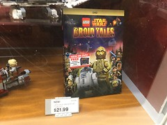 LEGO Star Wars: Droid Tales DVD (splinky9000) Tags: new york city nyc united states of america usa rockefeller plaza lego store star wars droid tales dvd c3po r2d2 ewoks chewbacca han solo princess leia death millennium falcon bwing imperial shuttle toys minifigures