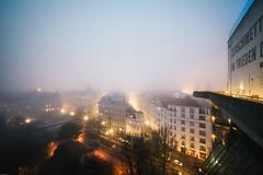 dense fog (_gate_) Tags: vienna wien austria sterreich winter fog flag tower
