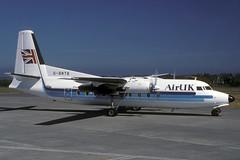 G-BNTB-1-EGJJ-JUN1989 (Alpha Mike Aviation Photography) Tags: friendship jer jersey f27 egjj airuk fokkerf27 gbntb