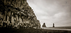 Basalt Cliff and Black Beach (Kevin Tupman Photography) Tags: basalt cliff black beach vik iceland ocean water kevintupmanphotography
