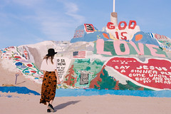 (Claudia.lam) Tags: california usa history hat hippies 35mm canon vintage landscape clothing model modeling jesus traveling traveler salvationmountain