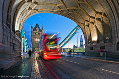 Swoooosh!!! Tower Bridge / London (zzapback) Tags: uk bridge blue light sunset red england urban bus london tower robert thames towerbridge river de big rotterdam nikon fotografie angle riverside stripes united capital wide trails sigma kingdom brug shard ultra 1224mm stad queenswalk doubledecker dg engeland towerhill londen uwa rivier voogd vormgeving groothoek grafische hsm hoofdstad koninkrijk verenigd d700 bergselaan liskwartier zzapback zzapbacknl robdevoogd stayawakeenjoyyourday