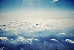 In an aeroplane over the sea (ingephotography) Tags: blue sea sky cloud clouds plane airplane fly flying blauw air over wolken zee aeroplane lucht vliegtuig wolk vliegen