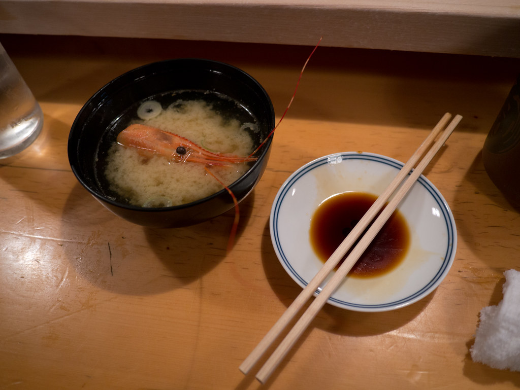 Soup, Sushi Restaurant, Tsukiji, by Reed A. George