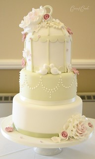3 tier birdcage cake by Cotton and Crumbs