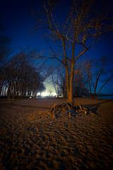 (001FJ) Tags: moon toronto beach night nikon lakeshore nikkor fx vr f4g 1635mm d700 kiteboardingsetuparea