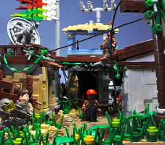 Breakpoint: Alpha-1 [Op. Wildfire] ([Renegade]) Tags: houses 3 modern grid us back lego african flag military united perspective scene special soldiers operations states forced militia operation breakpoint madagascar productions radar agents renegade wildfire savanna warfare purge alpha1 2028 brickjet