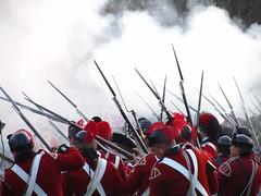 Musket Fire! (indie_hearts) Tags: history lexington americanrevolution britisharmy reenactment redcoats musket bayonets colonialera