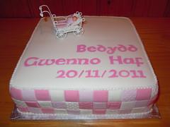 Cacen bedydd Gwenno Haf (MorfuddNia) Tags: cake christening cacen christeningcake bedydd cacenbedydd