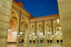 Fornt-yard of Al-Fateh Mosque; a typical Andalusian style (Muhannad Aulama) Tags: bahrain mosque andalusia manama alfateh