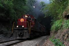 The Summit (M. Lastovich) Tags: am ar smoke tunnel trains missouri arkansas 46 railroads winslow alco c420