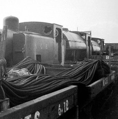 Durham Bowes 2nd June 1968 (loose_grip_99) Tags: uk england industry train wagon blackwhite wire industrial durham noiretblanc 26 14 engine 15 trains rope steam 25 mines locomotive 23 13 northeast railways ncb 1504 3055 hunslet uksteam nationalcoalboard gassteam 060t hawthornleslie 040st