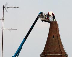 Cento (Renato Morselli) Tags: italy earthquake nikon italia belltower campanile firefighters 2012 emiliaromagna terremoto pompieri vigilidelfuoco crollo cento
