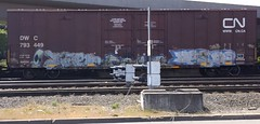 Jater Desoe (GraffStoleMyLife) Tags: railroad art metal train graffiti pacific graf union spraypaint bnsf freights autorack reefers desoe jater