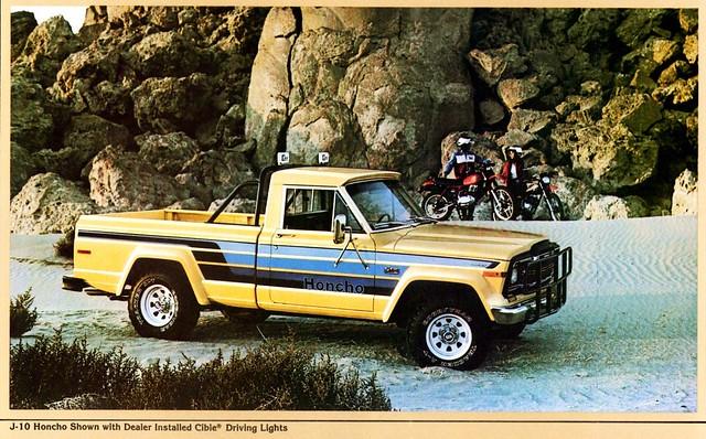 truck jeep pickup 1980 brochure honcho j10