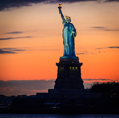 24/52 Statue of Liberty {Explored - Front Page} (Paul Wallace (NZ)) Tags: sunset newyork front explore page statueofliberty 2012 week24 explored newyorkphotography 522012 52weeksthe2012edition weekofjune10