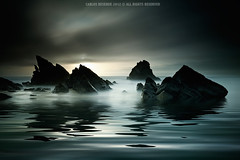 Mist of Time (CResende) Tags: longexposure light mist seascape portugal dark rocks mood sinister fineart sintra mistery adraga cresende
