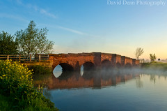 Eckington Bridge (jactoll) Tags: uk bridge england mist rural river landscape dawn countryside spring nikon wildflowers worcestershire nikkor avon vr 2012 worcs eckington 1685mm d7000 jactoll ashammeadow