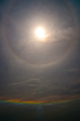 The sun&Rainbow (asakusatakashi) Tags: sky japan rainbow sony alpha carlzeiss a900 nichirin dslra900 sal24f20z 24mmf20ssmza