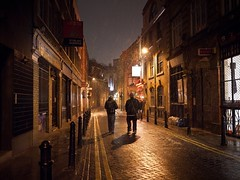 Snow in Hoxton (Magic Pea) Tags: snow streets london night walking photography photo streetphotography cobbled hoxton eastlondon magicpea