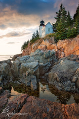 Bass Harbor Lighthouse (betty wiley) Tags: sunset lighthouse reflection coast maine workshop northeast acadia tidalpool bassharbor megg downeast