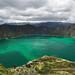 Il bellissimo cratere vulcanico e la laguna Quilotoa