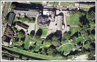 Satellite Photo of ancient Lenton Priory's  'Nazareth'  Site Before Demolition and New Building Work.