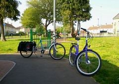 "Westfield Cycle Chic at Westfield's ""Jubilee Green"". (WestfieldWanderer) Tags: geotagged westfield radstock xtracycle paperbicycle geo:lat=51286688259793884 geo:lon=24655935859832425"
