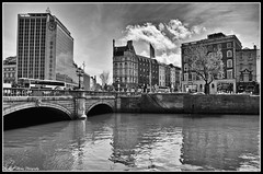 O'Connell Bridge Dublin (Lisa Tiffany Photography) Tags: ireland nikon citylife eire waterreflections acrosstheriver dublincity wideopensky theriverliffey urbanreflections d7000 mygearandme ringexcellence irelandsrivers dublinsbuildings surrealdublin