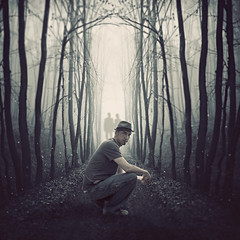 Into The Dark (Shawn Van Daele) Tags: forest photomanipulation dark square death lyrics twilight woods path ghost dream surreal manipulation fantasy ghosts macabre tone deathcabforcutie iwillfollowyouintothedark shawnvandaele