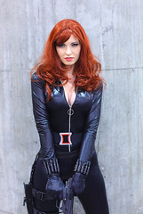 Katrina Morgan as the Black Widow 2012 Phoenix Comicon (PCC) (gbrummett) Tags: beautiful comic cosplay redhead stunning comicon con avengers pcc canonef85mmf12liiusmlens canoneos5dmarkiicamera grantbrummett katrinamorganblackwidow