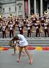 Img284818nx2 (veryamateurish) Tags: london trafalgarsquare cheerleaders band usc universityofsoutherncalifornia girl woman miniskirt