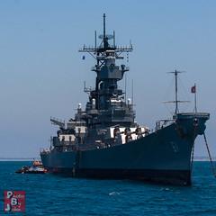 Iowa Starboard bow (*PhotoByJohn*) Tags: california losangeles other ship wwii longbeach battleship sanpedro ussiowa bb61 canon40d
