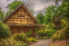Minka House HDR (RJP_Blob) Tags: uk kewgardens london japan kew japanese bamboo bushes shrubs hdr minka 550d minkahouse