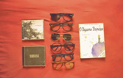 (Stella •) Tags: glasses book nirvana cds thelittleprince nevershoutnever