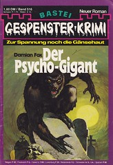 Gespenster-Krimi 516 (micky the pixel) Tags: monster vintage pulp kriminalroman groschenroman dimenovels groschenheft basteiverlag gespensterkrimi fredericcollins damianfox derpsychogigant